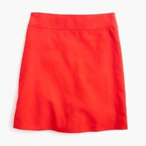 J.Crew Fiery Sunset Red In Corduroy Skirt